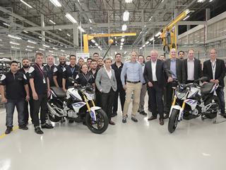 Produzida a primeira BMW G 310R brasileira