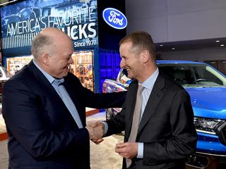 Volkswagen AG e Ford Motor Company anunciam em Detroit a aliança global